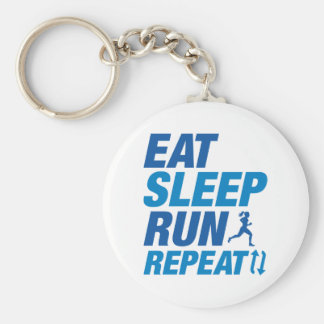 Eat Sleep Run Repeat Keychain