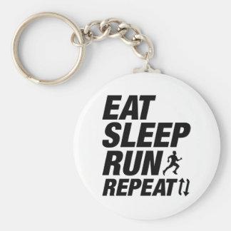 Eat Sleep Run Repeat Keychain