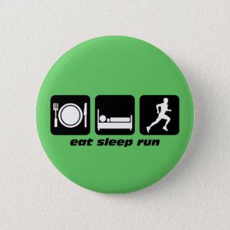 Eat sleep run running 2 inch round button