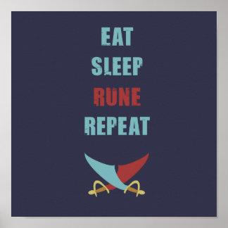 Eat Sleep Runescape Poster