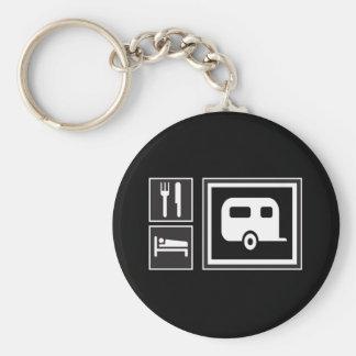 Eat. Sleep. RV! Basic Round Button Keychain