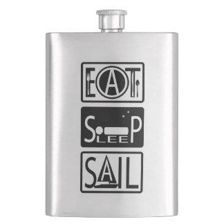 Eat Sleep Sail Classic 8oz Flask