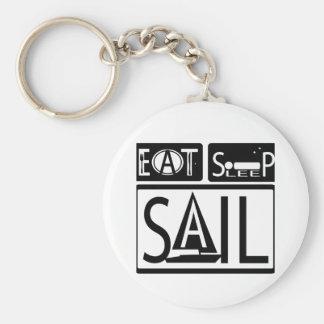 Eat Sleep Sail Keychain 3