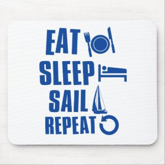 Eat sleep Sail Mouse Pad