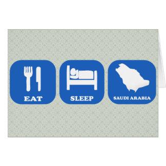 Eat Sleep Saudi Arabia Greeting Card