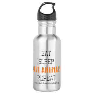 Eat, Sleep Save Animals 532 Ml Water Bottle