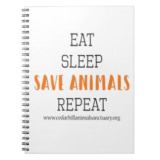 Eat Sleep Save Animals Notebook