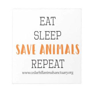 Eat Sleep Save Animals Notepad