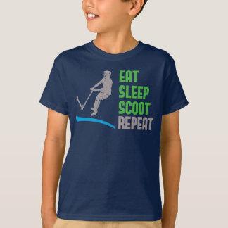 Eat sleep SCOOT Repeat, stunt scooter kids t-shirt