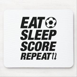 Eat Sleep Score Repeat Mouse Pad