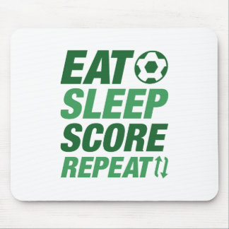 Eat Sleep Score Repeat Mouse Pad