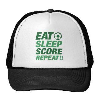 Eat Sleep Score Repeat Trucker Hat