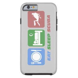 eat sleep scuba tough iPhone 6 case