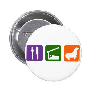 Eat Sleep Seals 2 Inch Round Button