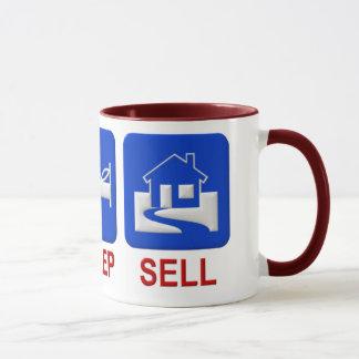 Eat, sleep, sell mug