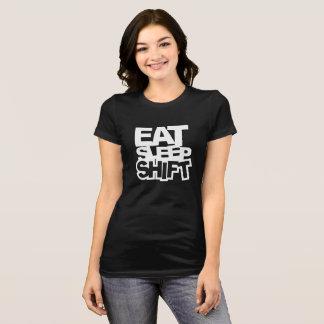 EAT SLEEP SHIFT biker Funny T-Shirt