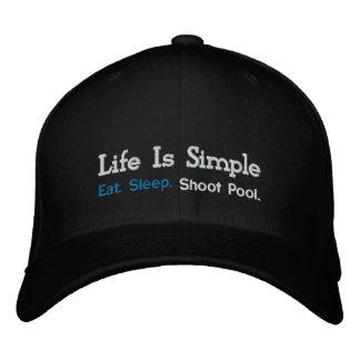 Eat. Sleep., Shoot Pool. Embroidered Hats