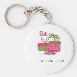 Eat Sleep Shop Keychain