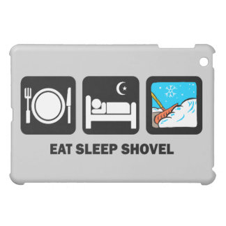 eat sleep shovel iPad mini cover