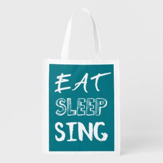 Eat, Sleep, Sing Bag Grocery Bag