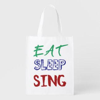 Eat, Sleep, Sing Bag Market Totes
