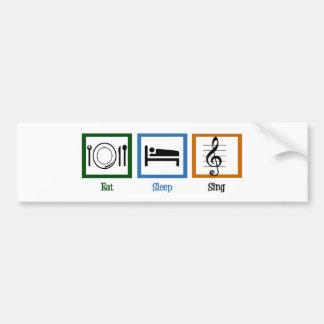 Eat Sleep Sing Bumper Sticker