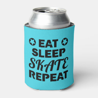 Eat Sleep Skate Repeat, Roller Derby Can Cooler