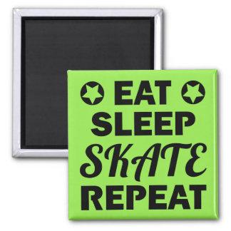 Eat Sleep Skate Repeat, Roller Derby Magnet