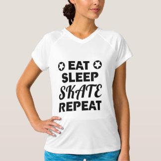 Eat Sleep Skate Repeat, Roller Derby T-Shirt
