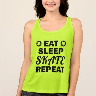 Eat Sleep Skate Repeat, Roller Derby Tank Top