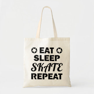 Eat Sleep Skate Repeat, Roller Derby Tote Bag