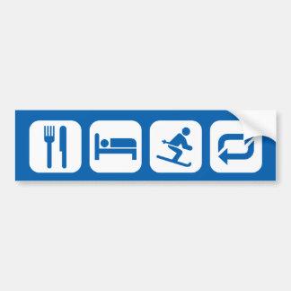 Eat Sleep Ski Repeat (white graphic) Bumper Sticker