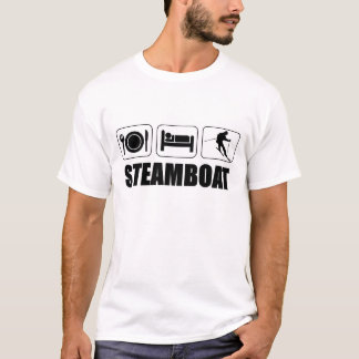Eat sleep ski steamboat T-Shirt