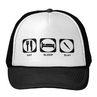 Eat Sleep Slay Color Customizable Hats