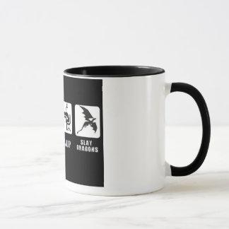 Eat, Sleep, Slay Dragons. Mug