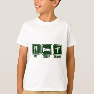 Eat Sleep Snake Handling Repeat T Shirt