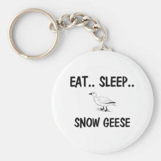 Eat Sleep SNOW GEESE Keychain