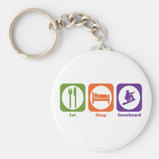 Eat Sleep Snowboard Keychain