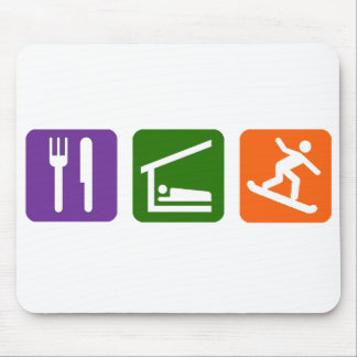Eat Sleep Snowboarding Mouse Pad