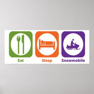 Eat Sleep Snowmobile Poster
