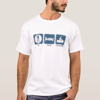 eat sleep snowmobile T-Shirt