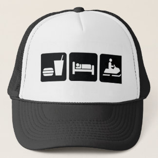 Eat Sleep Snowmobile Trucker Hat