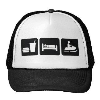 Eat Sleep Snowmobile Trucker Hat