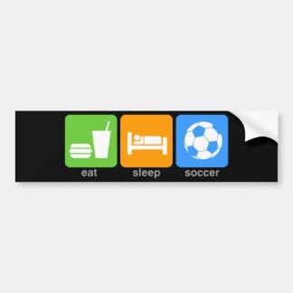 Eat Sleep Soccer Bumper Sticker
