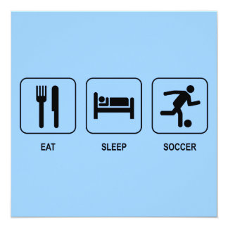 Eat Sleep Soccer Invitation