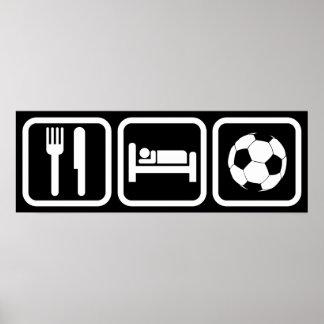 Eat Sleep Soccer Poster