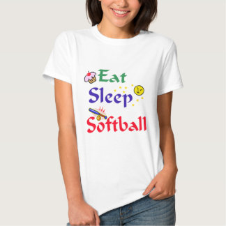 Eat Sleep Softball T-shirt
