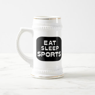 Eat Sleep Sports 18 Oz Beer Stein