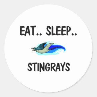 Eat Sleep STINGRAYS Round Sticker