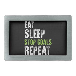 Eat Sleep Stop Goals Repeat Shirt Rectangular Belt Buckles